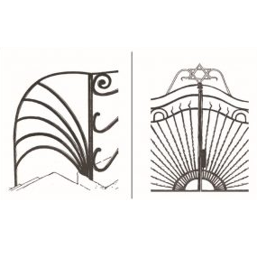 Local Design Phenomenon In The 1920s And 1930s A Repertoire Of Art Nouveau Deco Motifs Appeared Jewish Orthodox Neighborhoods